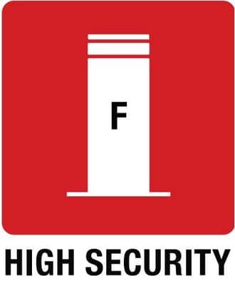 Ikonka Stałe słupki High Security Line