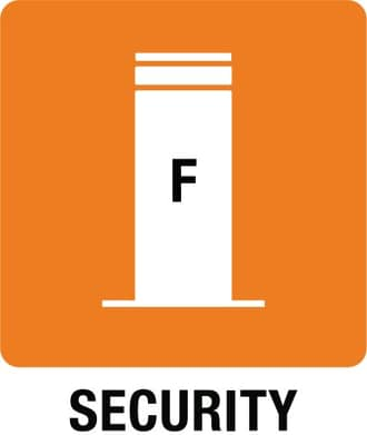 Ikonka Stałe słupki Security Line
